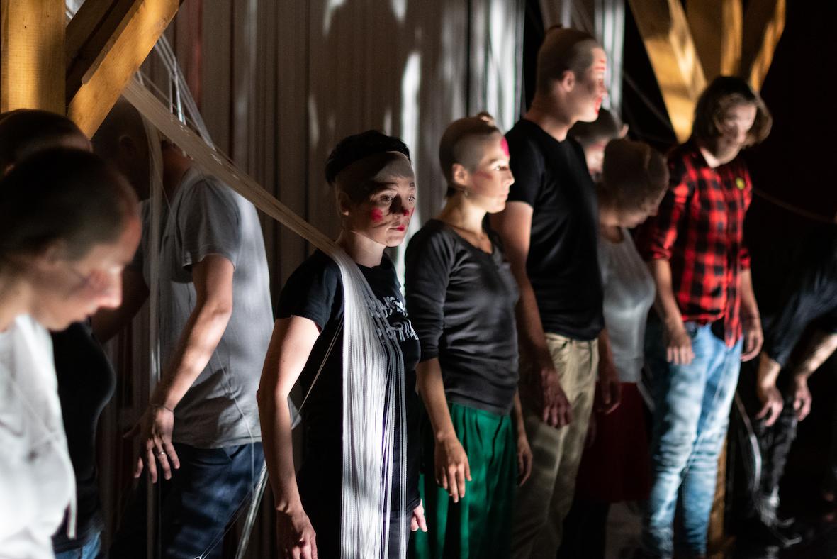 """Il teatro partecipativo """"Seven vallies"""" co-progettato da Sladovna Pisek e dalla compagnia TPO per """"Umprepared hearts"""". Courtesy MUBA"""