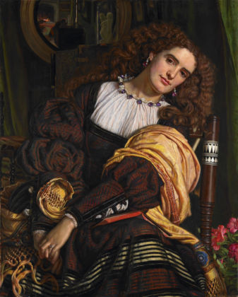 Annie Miller is the model in Il Dolce far Niente by William Holman Hunt, 1866. Private Collection, c/o Grant Ford Ltd;