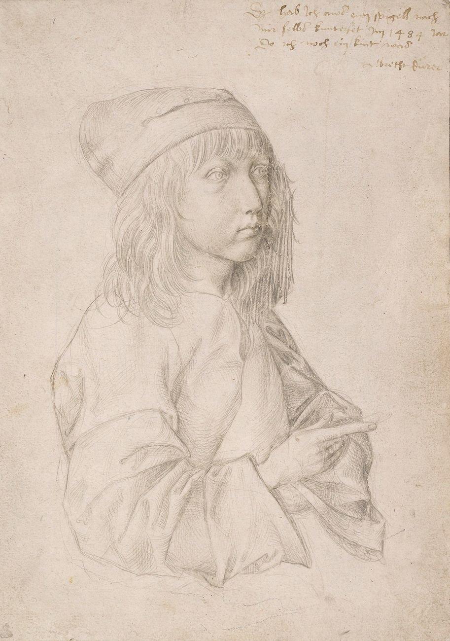 Albrecht Dürer, Selbstbildnis als Dreizehnjähriger, 1484 © Albertina, Vienna