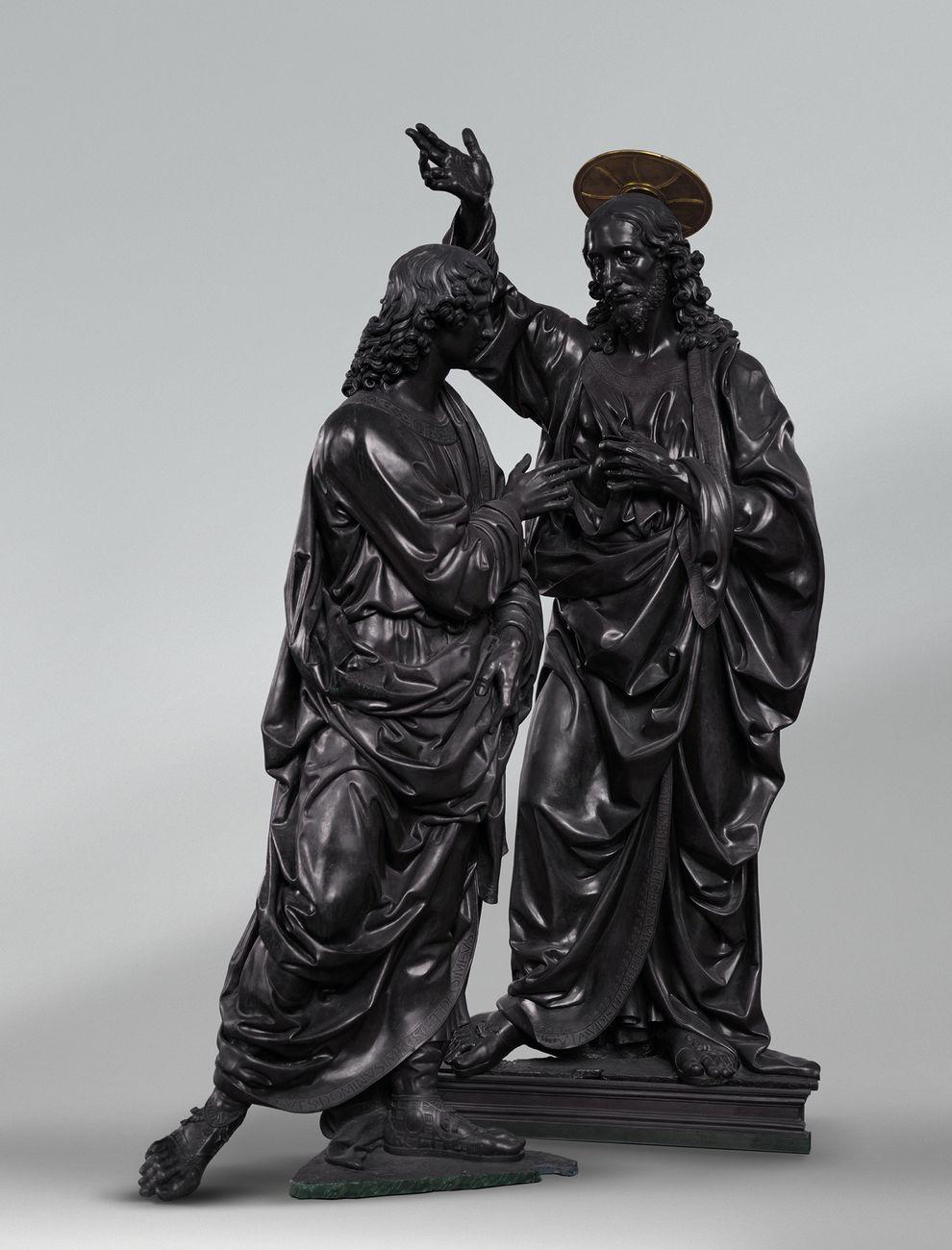 Andrea del Verrocchio, Cristo e San Tommaso o L'Incredulità di San Tommaso. Photo © Louis Frank