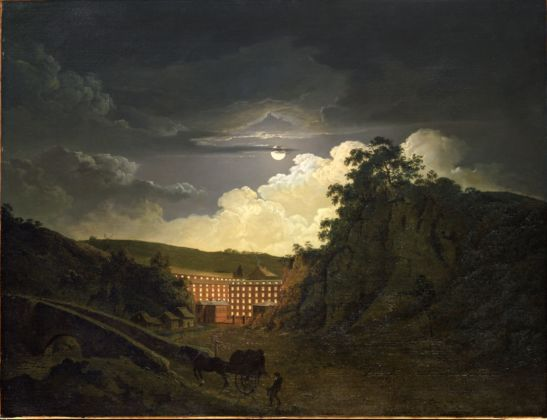 Arkwright's Cotton Mills By Night, 1782 by Joseph Wright of Derby. Photograph Philip Mould and Co