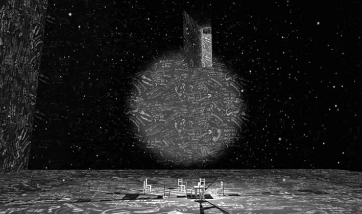 Chalkroom, by Laurie Anderson and Hsin Chien Huang
