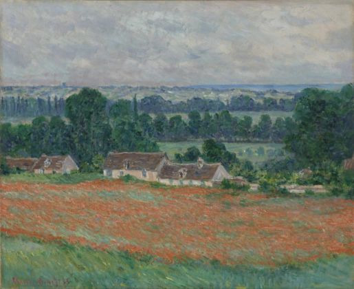 Claude Monet, Campo di papaveri, Giverny, 1885. Collection of Mr. and Mrs. Paul Mellon