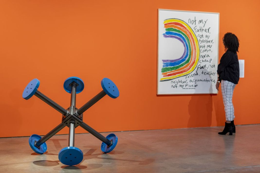Colored People Time. Banal Presents. Installation view at ICA Institute of Contemporary Art, University of Pennsylvania, 2019. Photo Constance Mensh