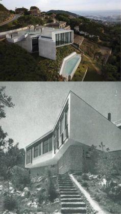 Comparazione fra Villa Tufaroli e la X Hause Cadaval Solá Morales. Courtesy Carlo Ragaglini