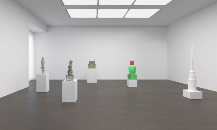 Cy Twombly. Sculpture. Exhibition view at Gagosian, Londra 2019