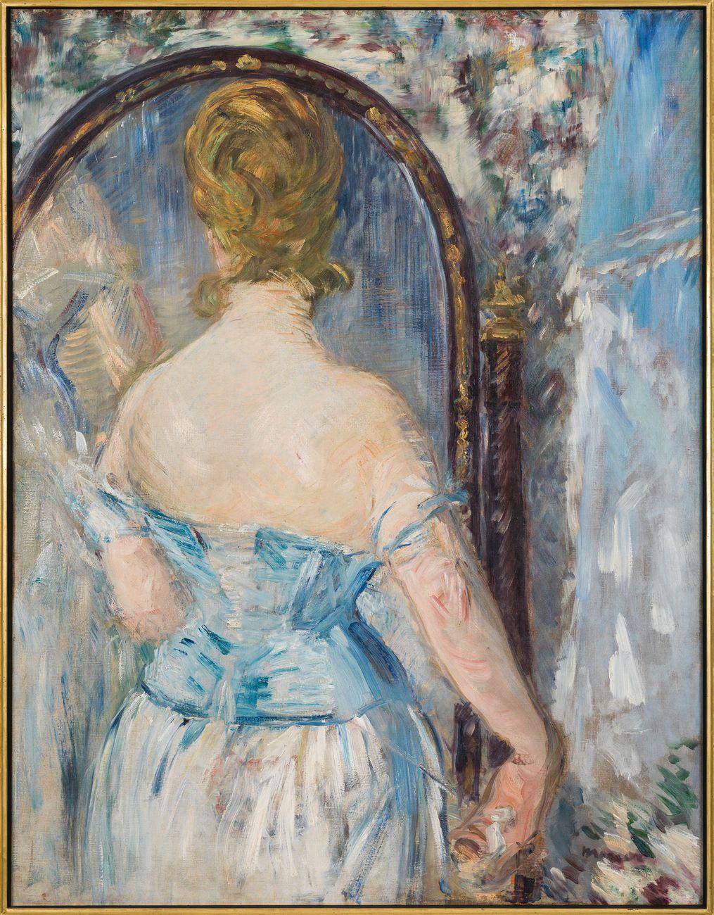 Édouard Manet, Devant la glace, 1876. Solomon R. Guggenheim Museum, New York. Thannhauser Collection, Donazione Justin K. Thannhauser © Solomon R. Guggenheim Foundation, New York (SRGF)