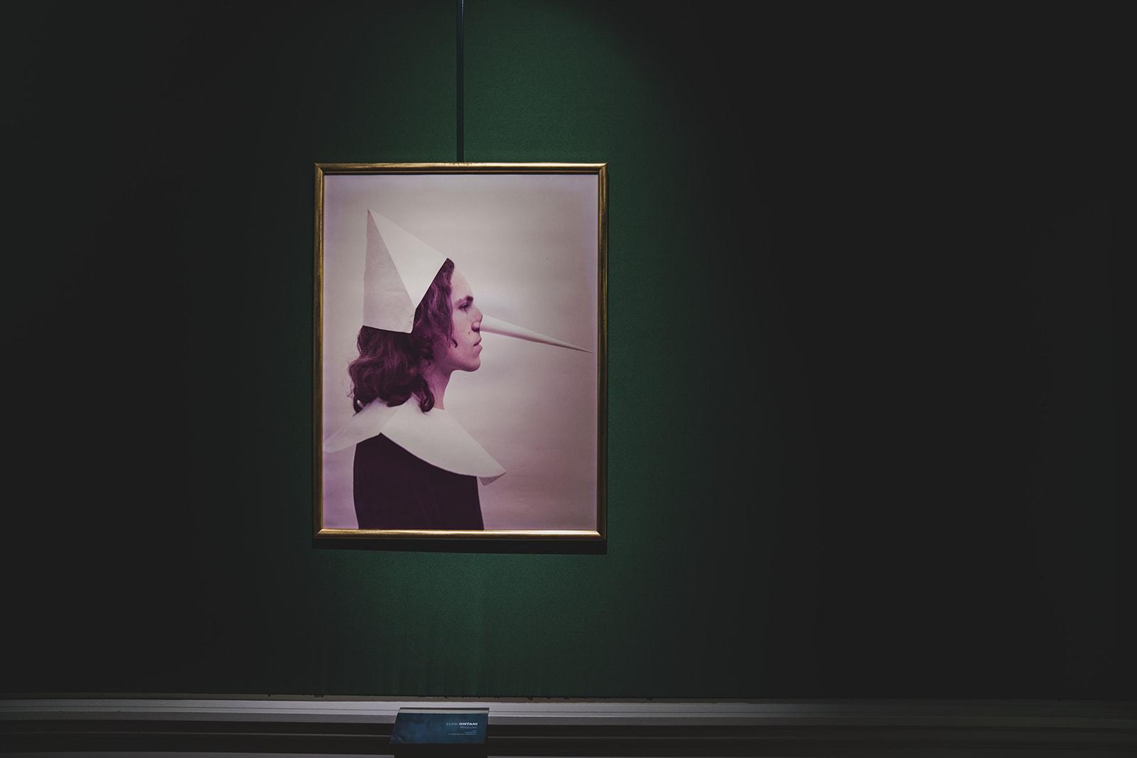 Enigma Pinocchio. Luigi Ontani, Pinocchio, 1972. Collezione Fabio Sargentini. Installation view at Villa Bardini, Firenze 2019. Photo Michele Monasta