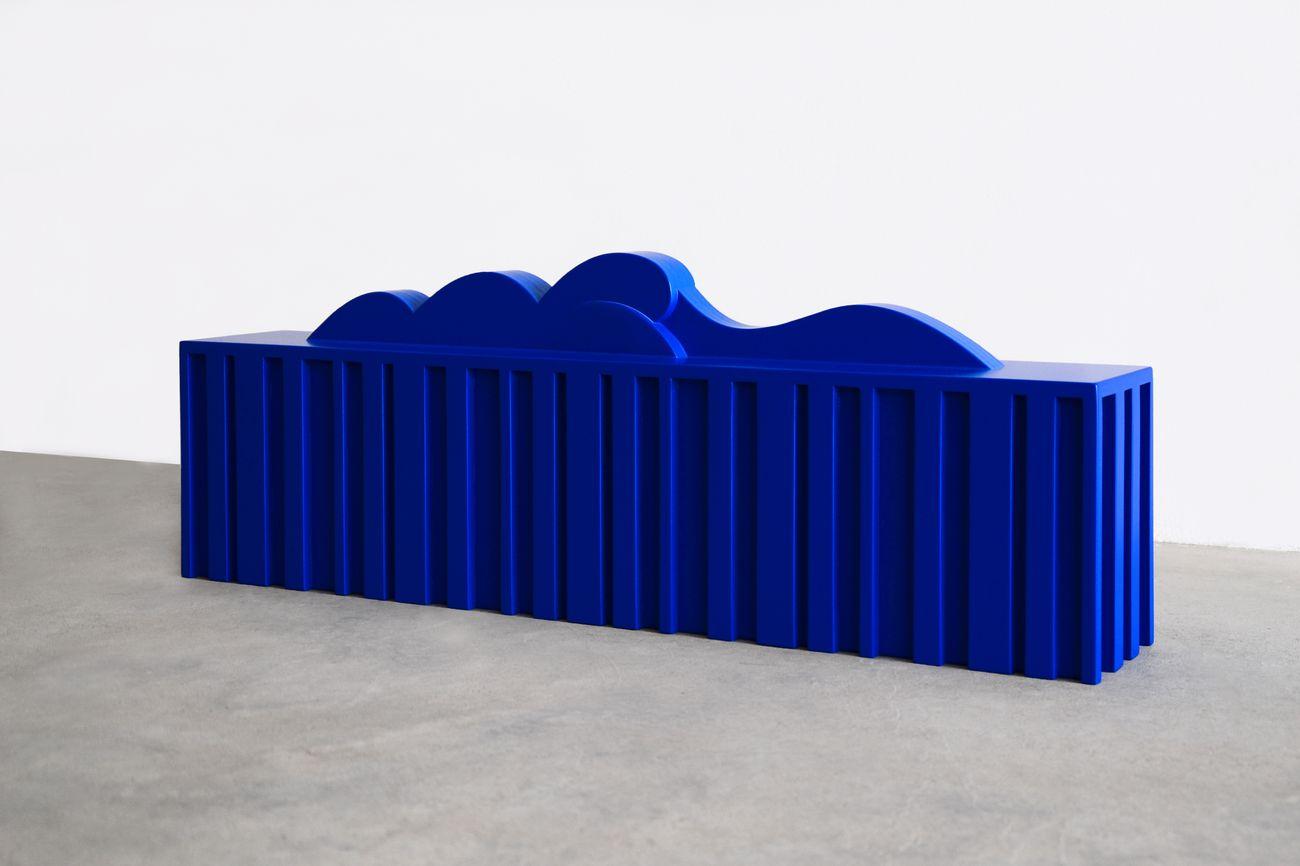 Federico Cantale, Blu Gargano, 2019, legno laccato, 26,5 x 70 x 15 cm