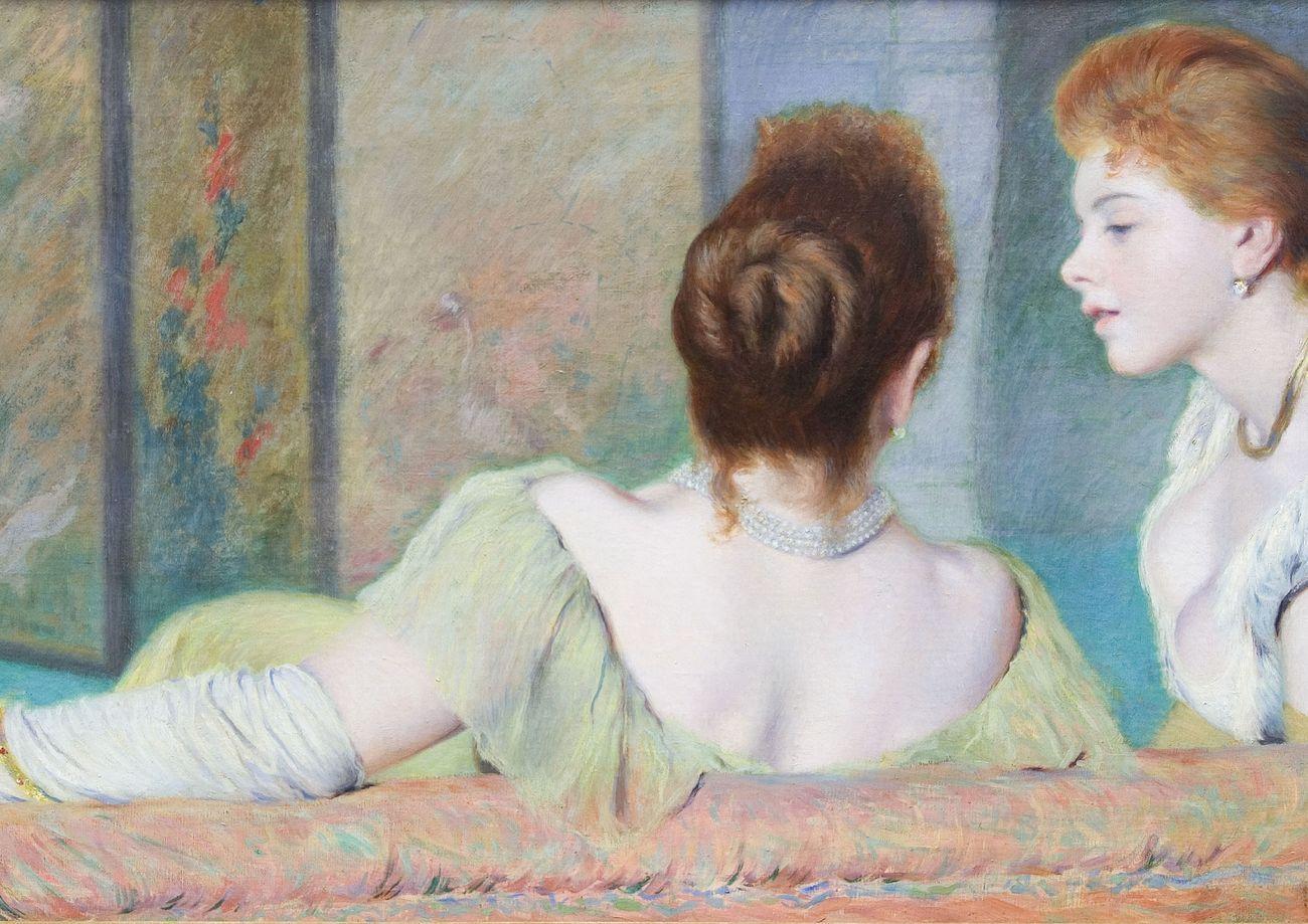 Federico Zandomeneghi, Sul divano, 1885 90 ca. Collezione privata, Italia