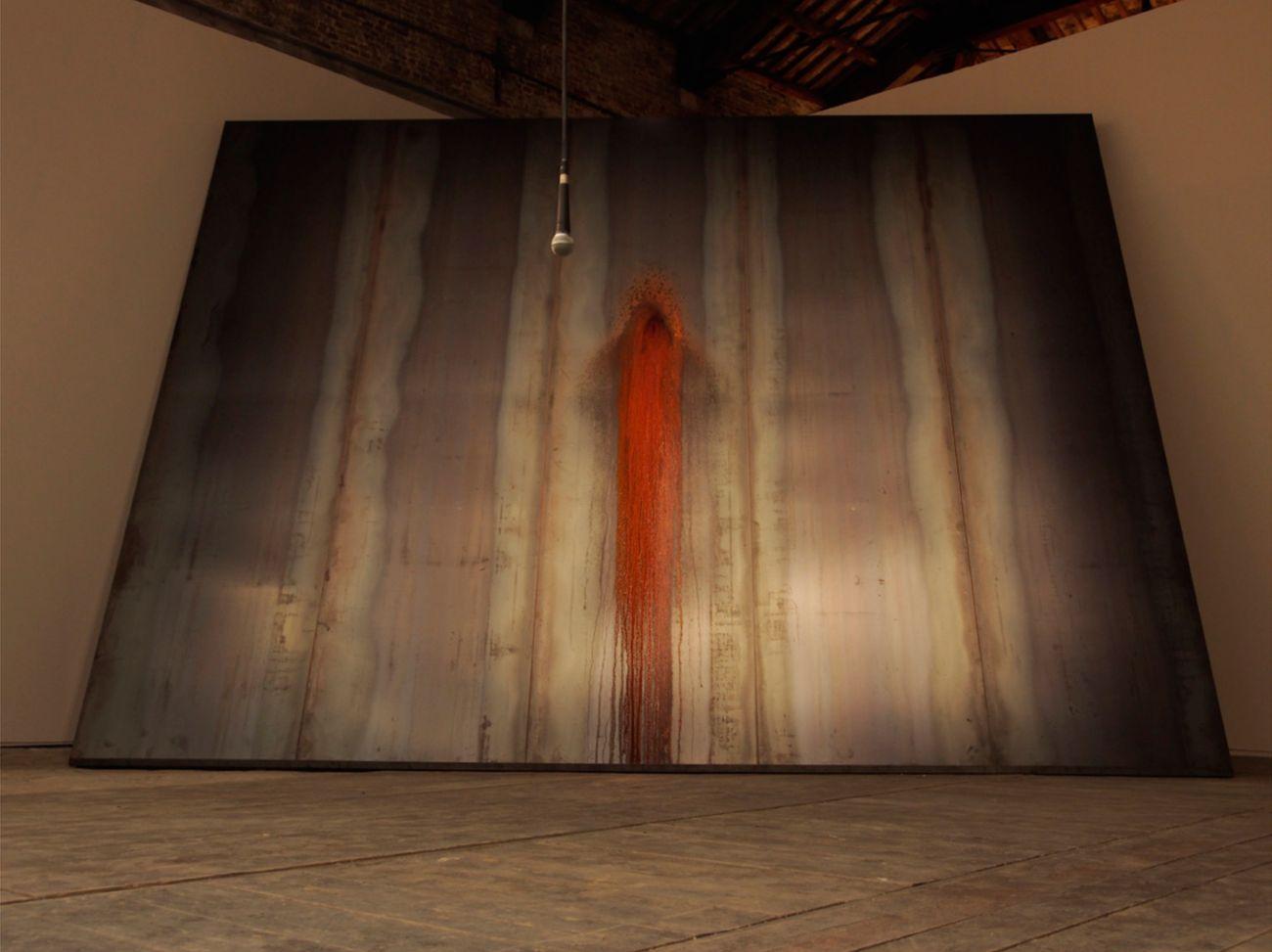 Francesca Grilli, Ossido ferrico. Installation view at Padiglione Italia, 57. Biennale di Venezia