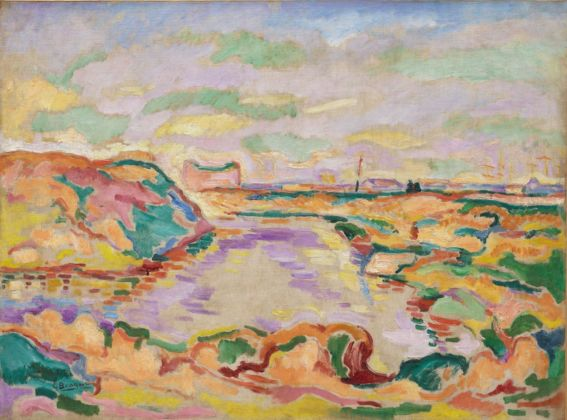 Georges Braque, Paysage près d'Anvers, 1906. Solomon R. Guggenheim Museum, New York. Thannhauser Collection, Donazione Justin K. Thannhauser