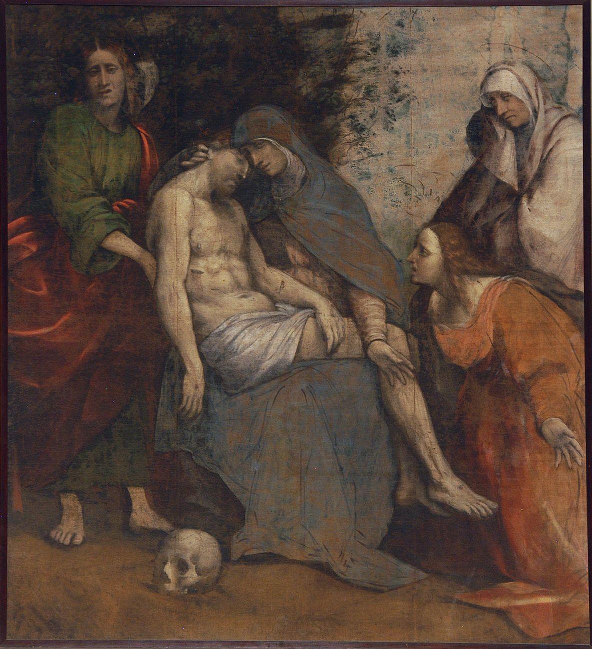 Giovanni Antonio de' Sacchis detto il Pordenone, Pietà, 1524 25. Cortemaggiore, Chiesa di Santa Maria delle Grazie e San Lorenzo
