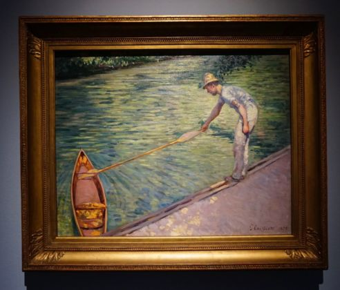 Gustave Caillebotte, Uomo che attracca la canoa, 1878. Collection of Mr. and Mrs. Paul Mellon. Photo Serena Tacchini