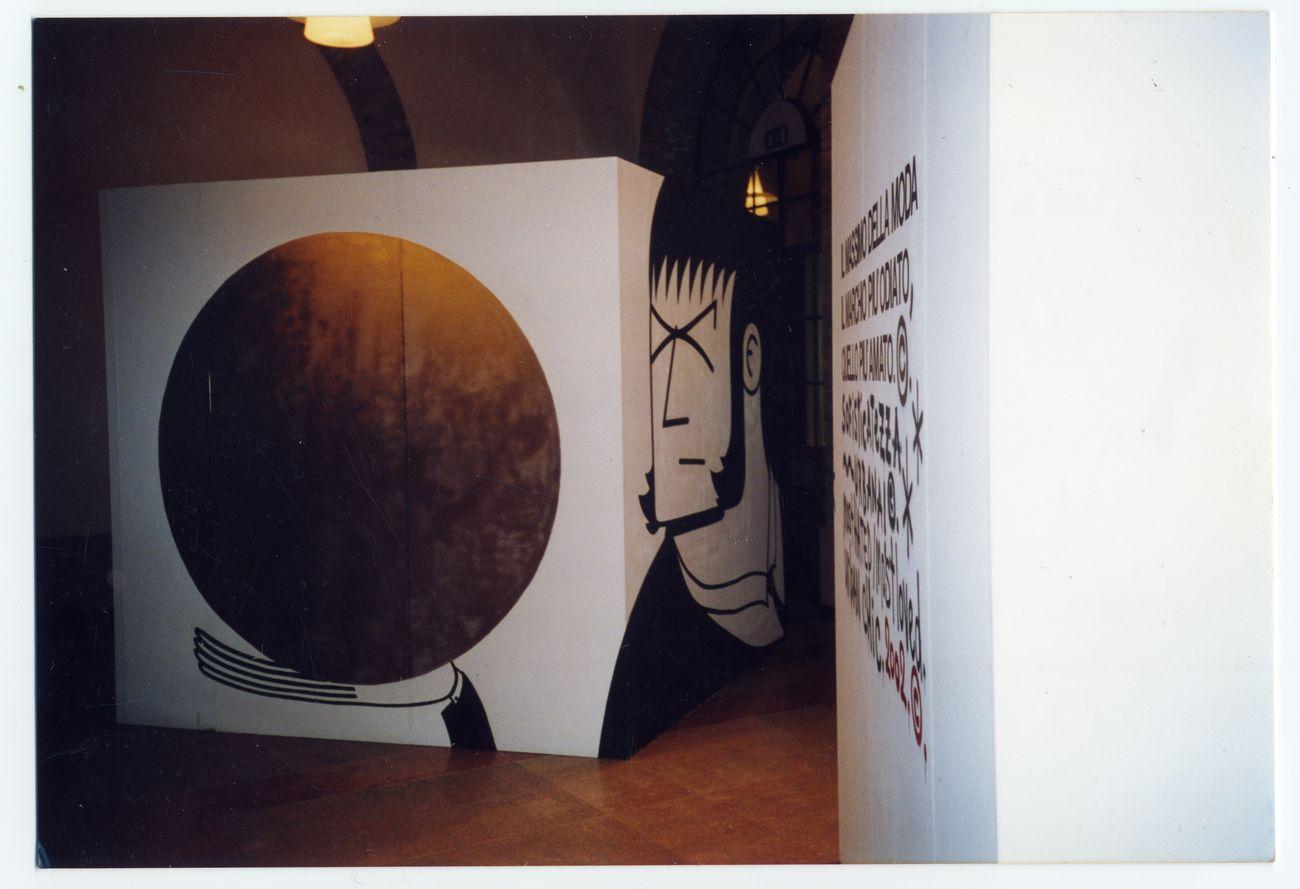 Honet & Oliver Kosta Thefaine. Installation view at Caffè Concerto, Festival Icone, Modena 2002. Courtesy of the artists