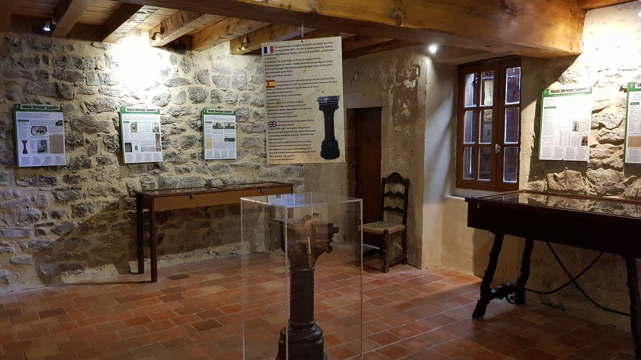 Il museo di Rennes le Château nel 2019