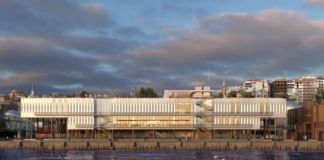 Istanbul Modern, vista render dal Bosforo, Renzo Piano Building Workshop in collaboration with Arup Istanbul © RPBW