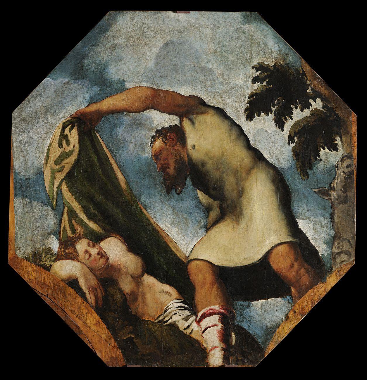 Jacopo Robusti detto il Tintoretto, Priapo che insidia Lotide addormentata, 1542 ca. Modena, Gallerie Estensi