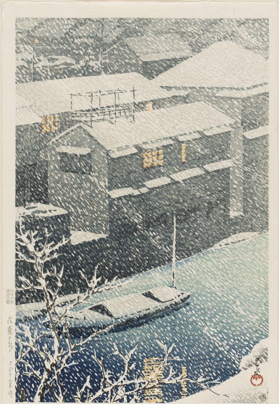 Kawase Hasui, Ochanomizu, dalla serie Tôkyô nijûkei, 1926. Museum of Fine Arts, Boston. Photo © Museum of Fine Arts, Boston