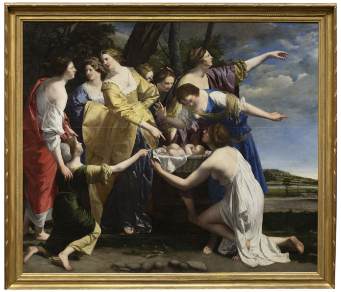 The Finding of Moses, Orazio Gentileschi, early 1630s. Private Collection