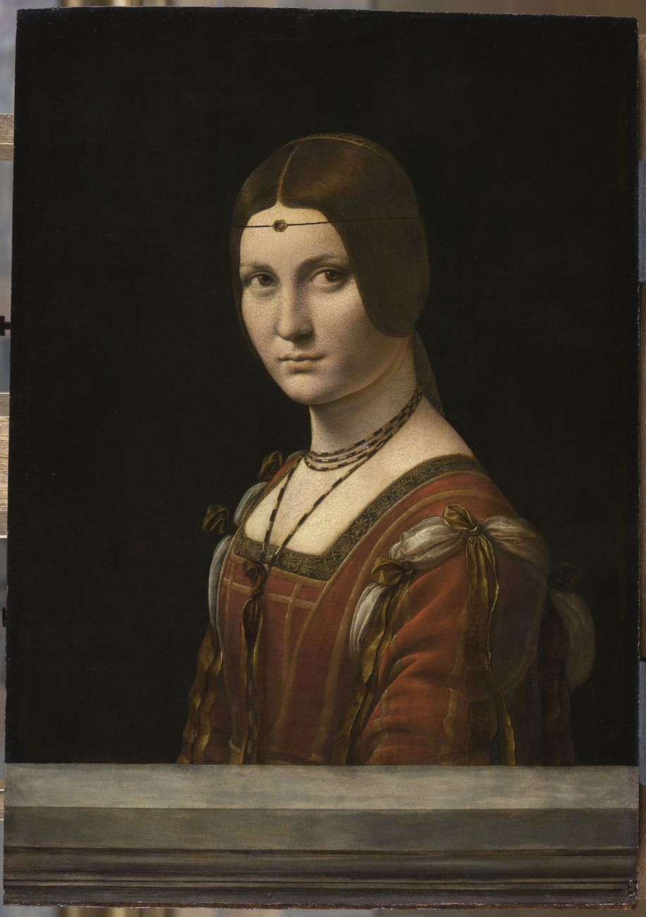 Leonardo da Vinci, Ritratto di una dama della corte di Milano, detta a torto La Belle Ferronnière © RMN-Grand Palais (Musée du Louvre - Michel Urtado)