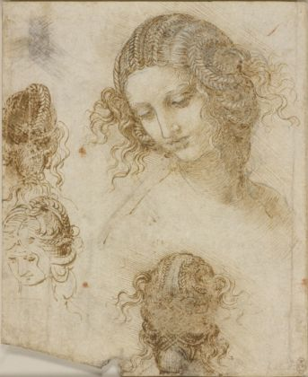 Leonardo da Vinci, Studi per la testa di Leda © Royal Collection Trust © Her Majesty Queen Elizabeth II 2019