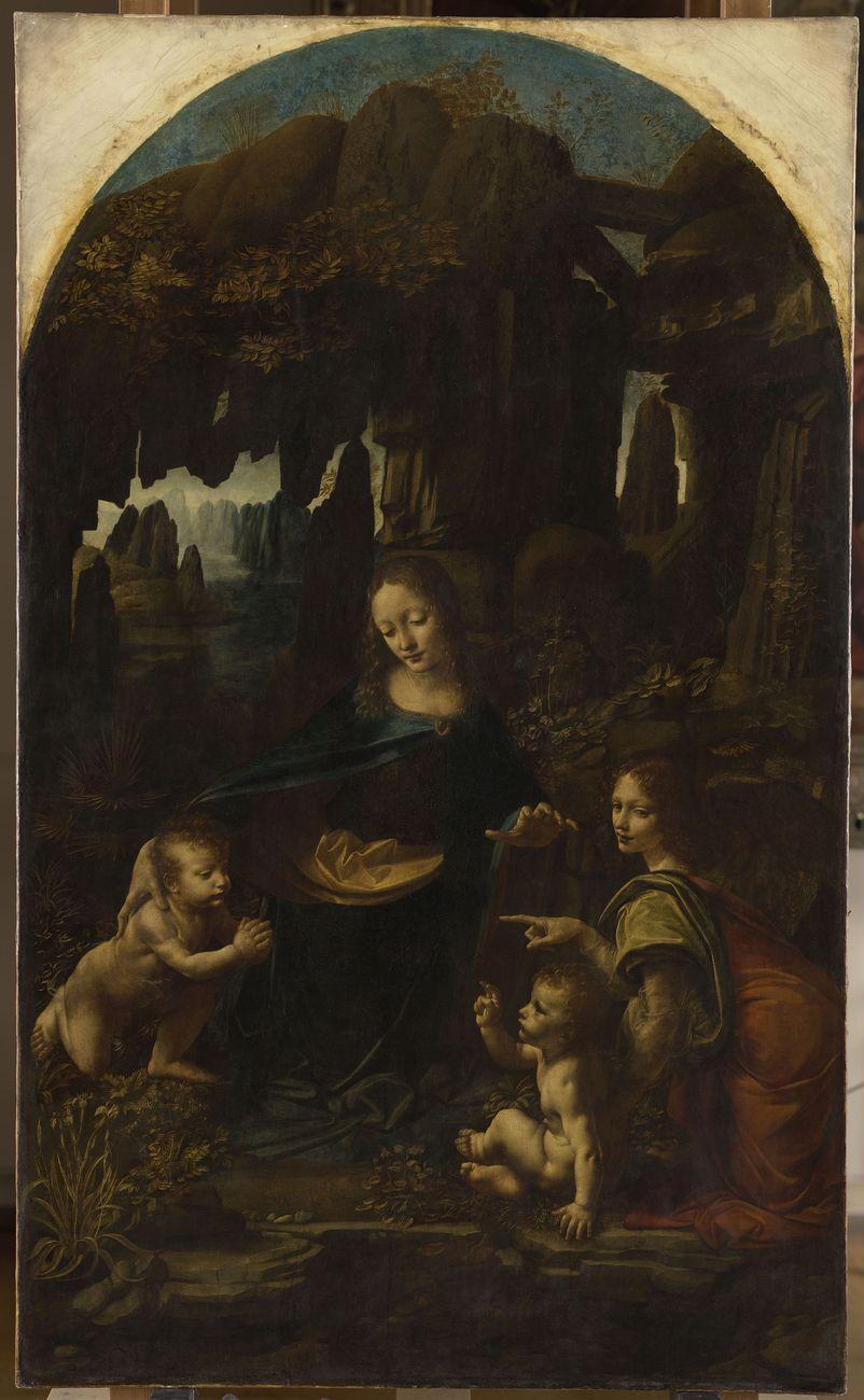 Leonardo da Vinci, Vergine col Bambino con San Giovanni Battista e un angelo, detta La Vergine delle rocce © RMN-Grand Palais (Musée du Louvre - Michel Urtado)