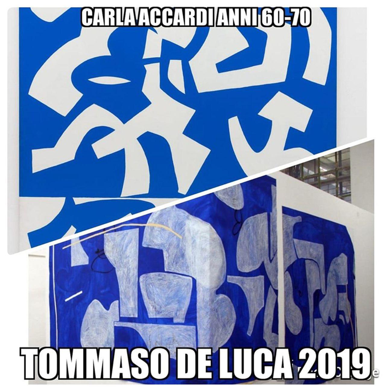 Luca Rossi, Confronto tra Carla Accardi e Tommaso De Luca