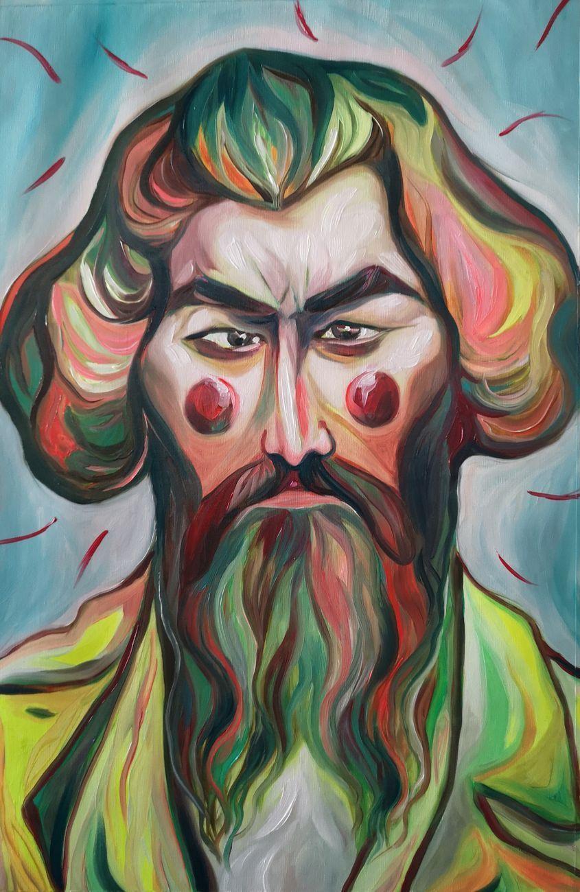 Luigi Presicce, Segantini, 2019, olio su tela, cm 57 x 38