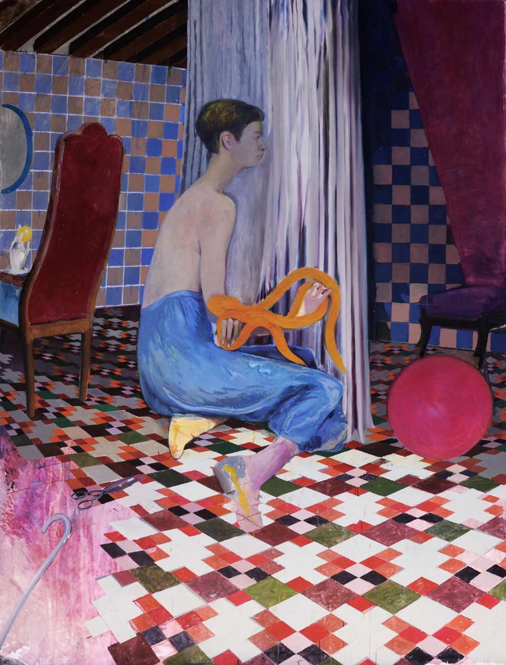 Maddalena Tesser, Teoria delle Vergini (Solo), 2017, olio su tela, 200x165 cm