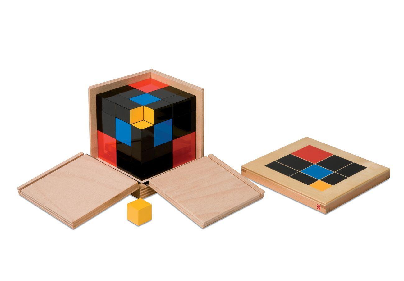 Maria Montessori, Cubo del trinomio © GAM GonzagArredi Montessori