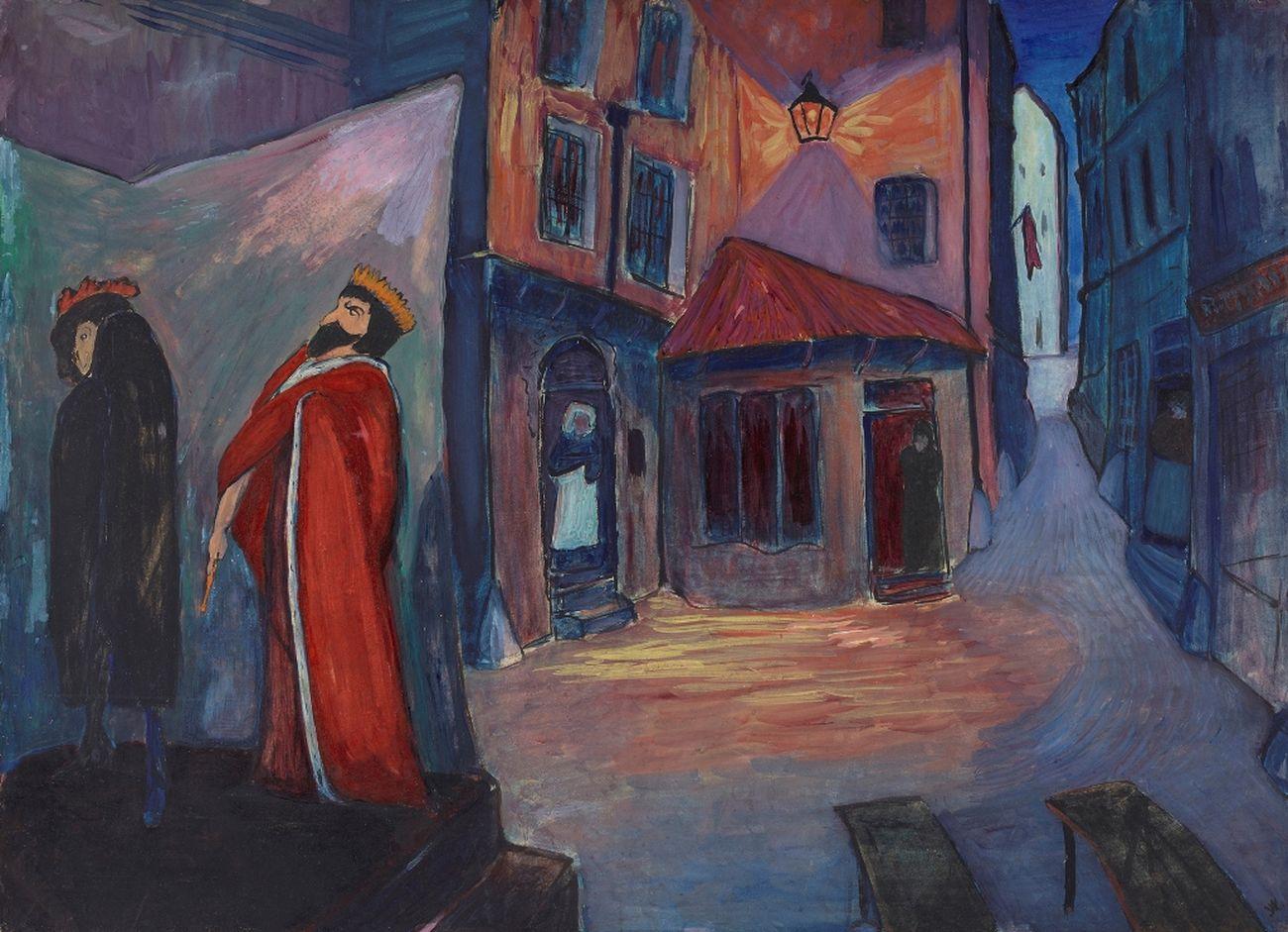 Marianne von Werefkin, Di notte, 1910. Lenbachhaus Munich. Photo Lenbachhaus