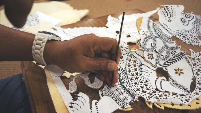 Mohd, Malaysia - Leather Shadow Puppet Making. Courtesy of VAWAA