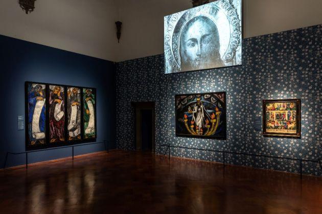 Natalia Goncharova. Una donna e le avanguardie, tra Gauguin, Matisse e Picasso. Installation view at Palazzo Strozzi, Firenze 2019. Photo Alessandro Moggi
