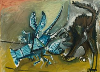 Pablo Picasso, Le homard et le chat, Mougins, 11 gennaio 1965. Solomon R. Guggenheim Museum, New York. Thannhauser Collection, Lascito Hilde Thannhauser © Succession Picasso, by SIAE 2019