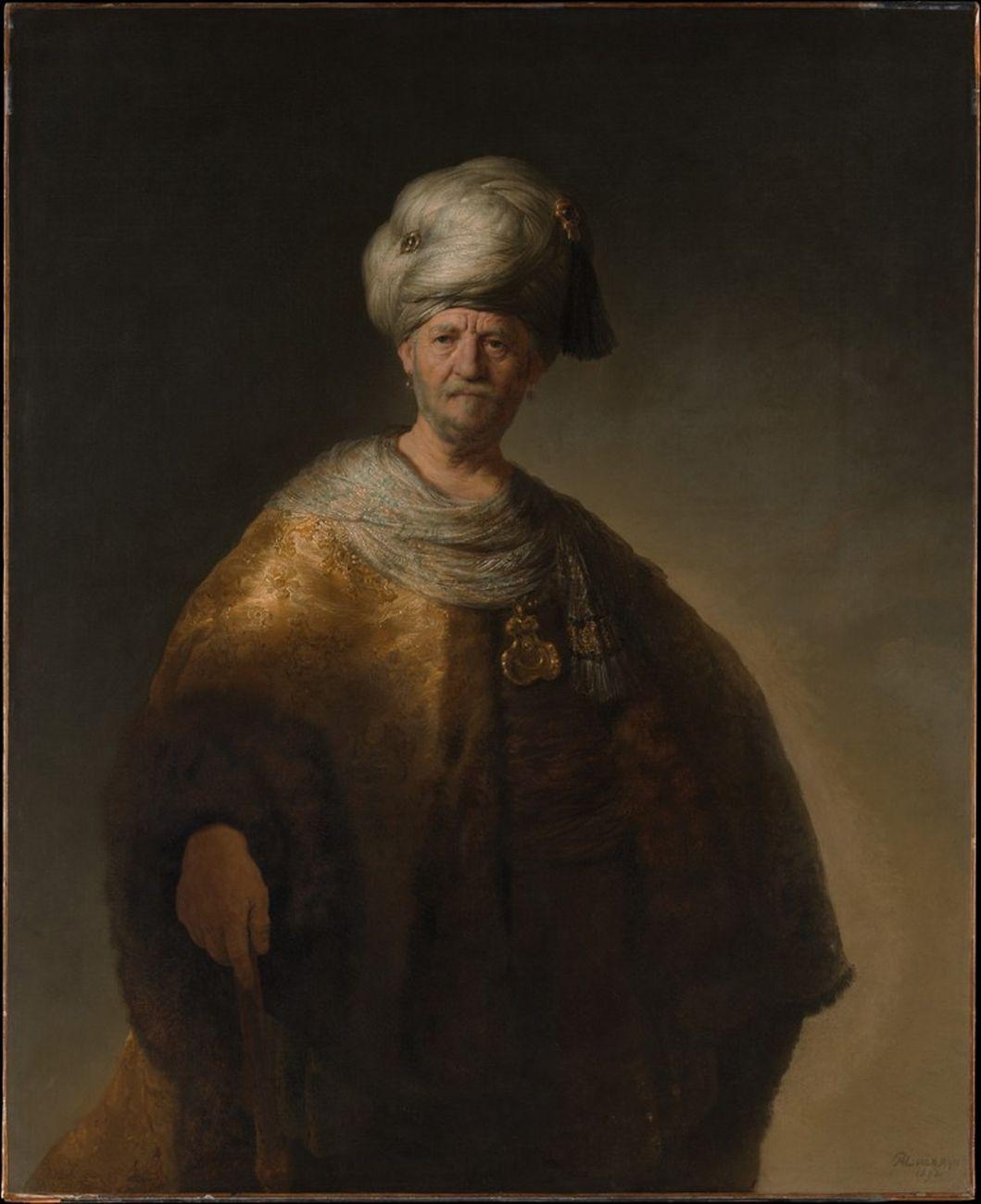 Rembrandt, Uomo in costume orientale, 1632. New York, The Metropolitan Museum of Art