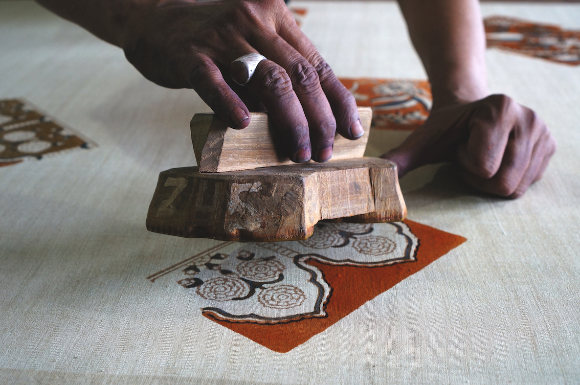 Sarfraz, India - Ajrakh Block Printing. Courtesy of VAWAA