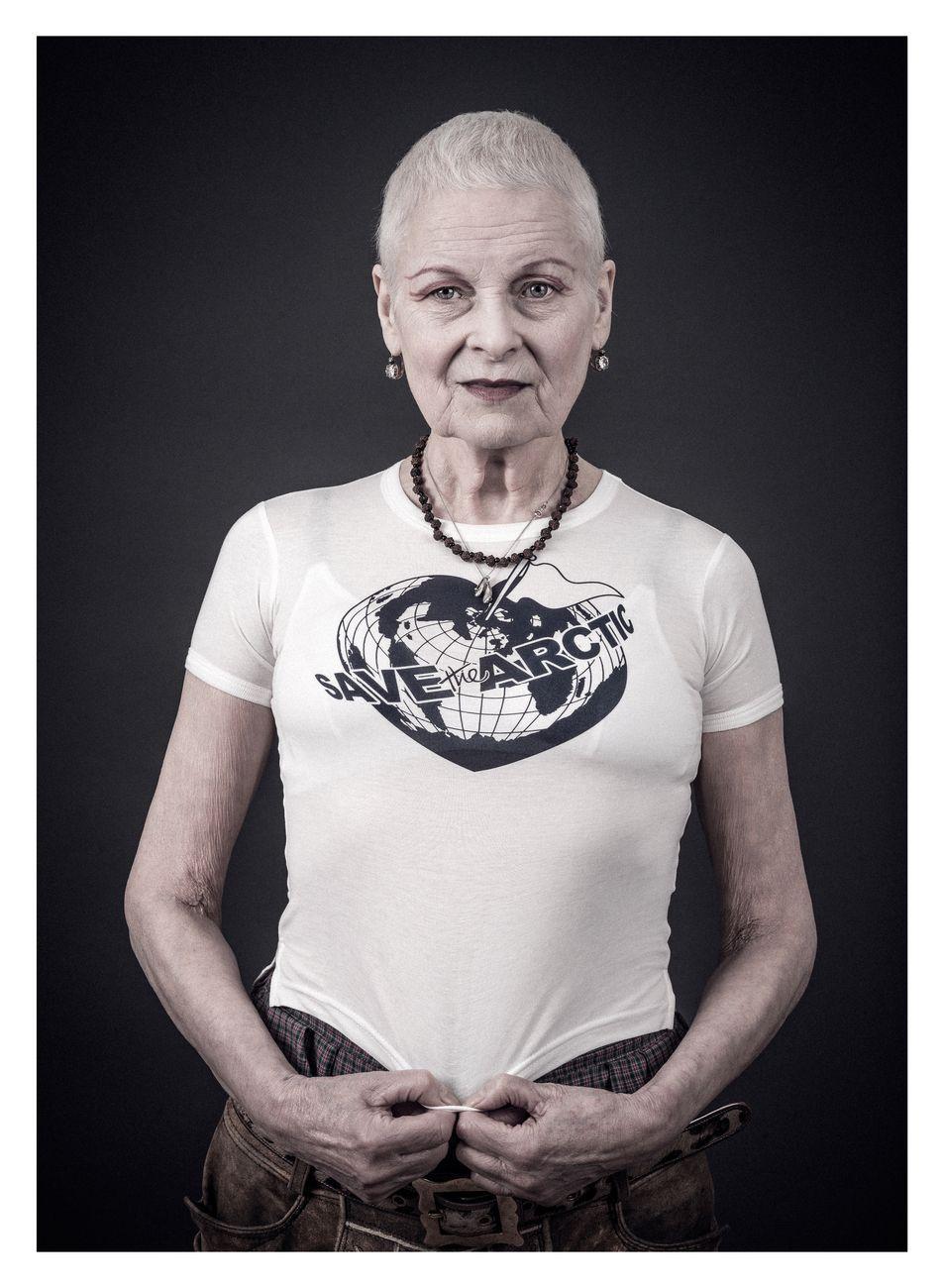 Save the Arctic T-shirt. Courtesy Vivienne Westwood Archive