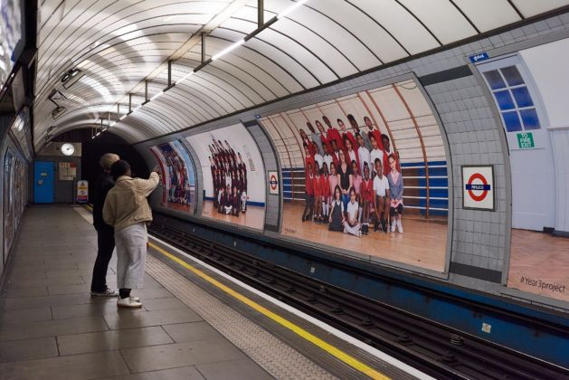 Steve McQueen Year 3 Billboards at Pimlico Tube Station, London Borough of Westminster. Photo Theo Christelis