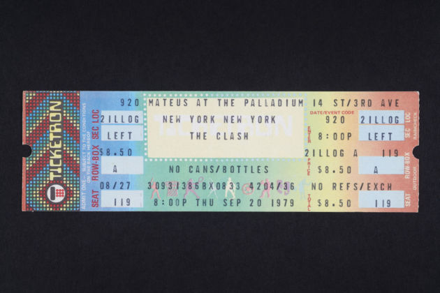 Ticket for the New York Palladium, 20 September 1979 Paul smashed his bass on stage at this show. © Casbah Productions Ltd