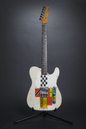 The 1950S Fender Esquire used by Joe Strummer during the recording of the 'London Calling' album and on stage for various live and televised performances between 1979-1981. © Lola and Jazz Mellor