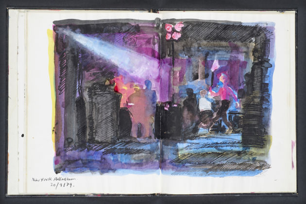 Ray Lowry Sketch Book from Clash Tour. © Samuel Lowry