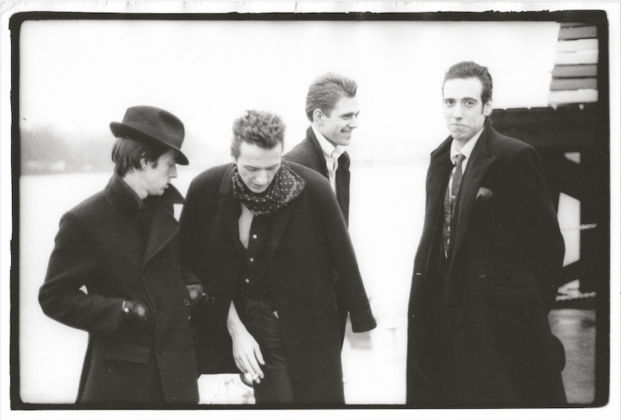 At the London Calling video shoot, on the River Thames, 1979 - © Pennie Smith