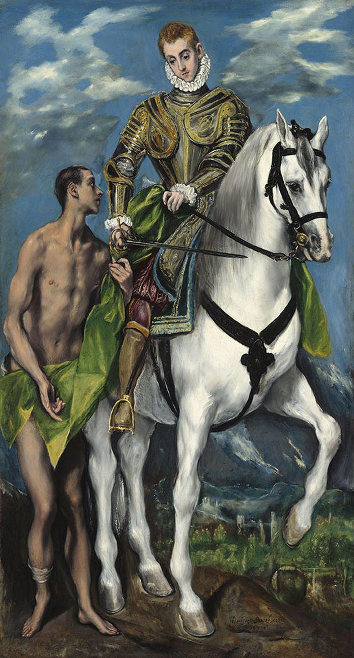 El Greco, San Martino e il povero, 1597-1599, olio su tela, 193,5 x 103 cm. Washington, National Gallery of Art © Washington, National Gallery of Art