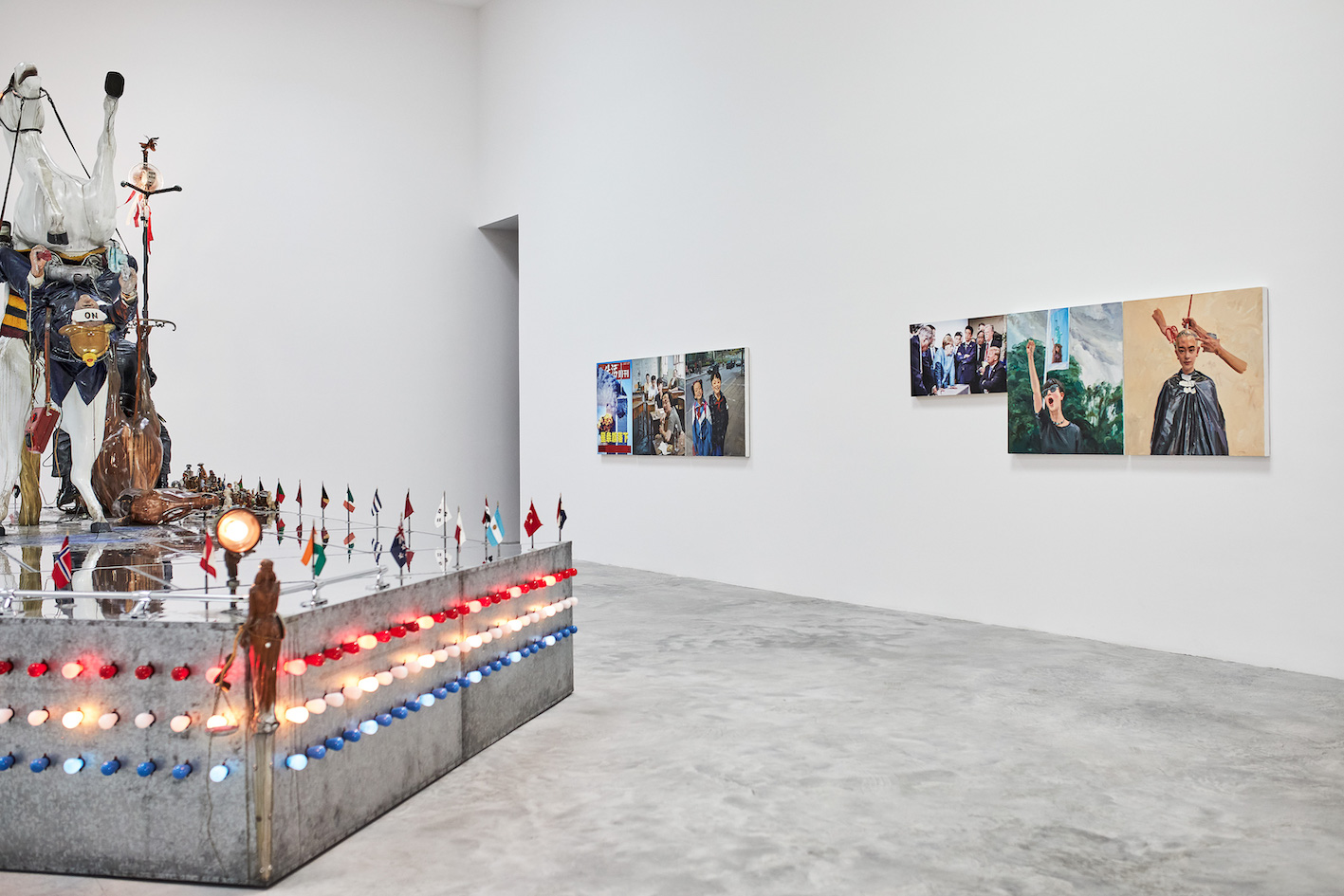 """Installation view of the exhibition """"The Red Bean Grows in the South"""", Faurschou New York, 2019. Photo by Ed Gumuchian, © Faurschou Foundation"""