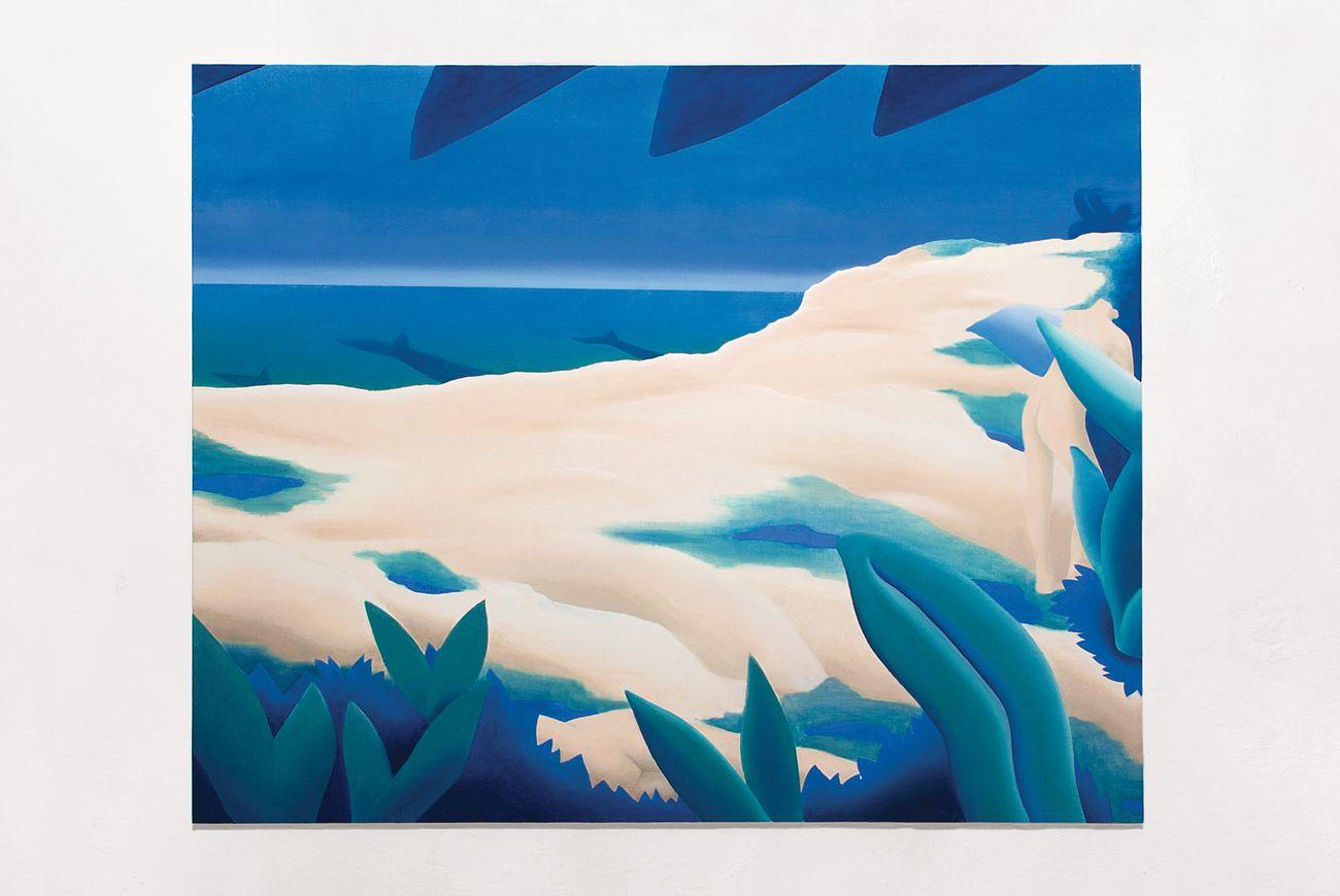 Viola Leddi, Mimic, 2017, oil on canvas, 120 x 150 cm