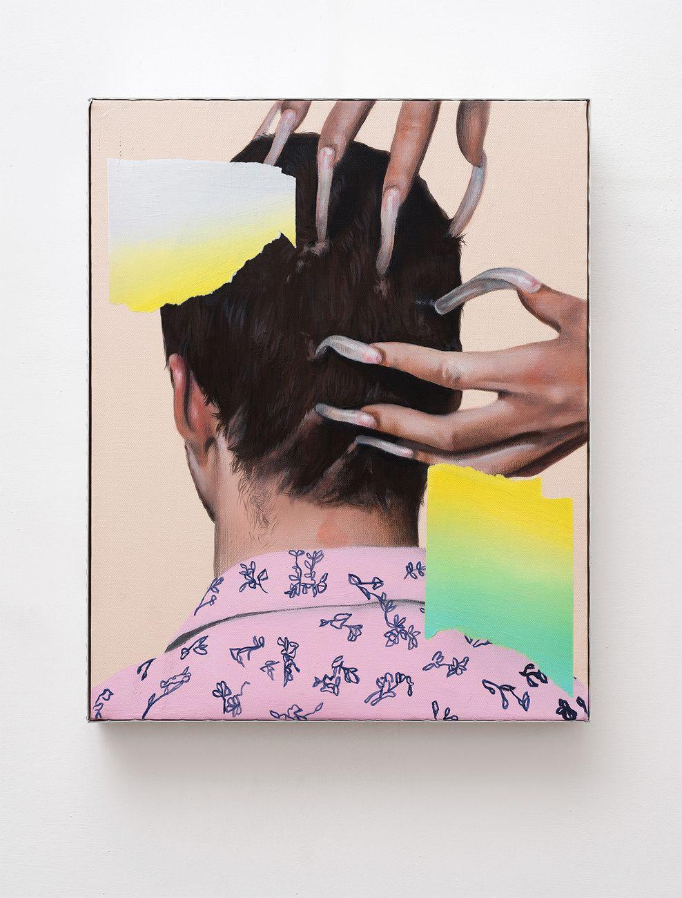 Andrea Martinucci, 30032018.jpeg, acrilico, grafite e acciaio su tela, 40x50cm, 2018. Courtesy Collezione Privata