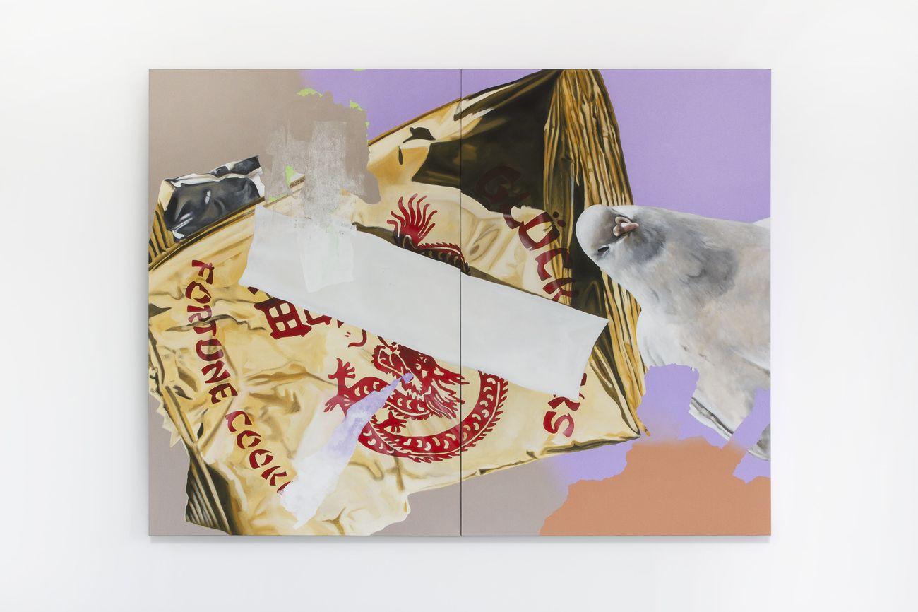 Andrea Martinucci, 3032019.jpeg, acrilico e grafite su tela, 200x150x4 cm, 2019. Courtesy l'artista e Renata Fabbri Arte Contemporanea