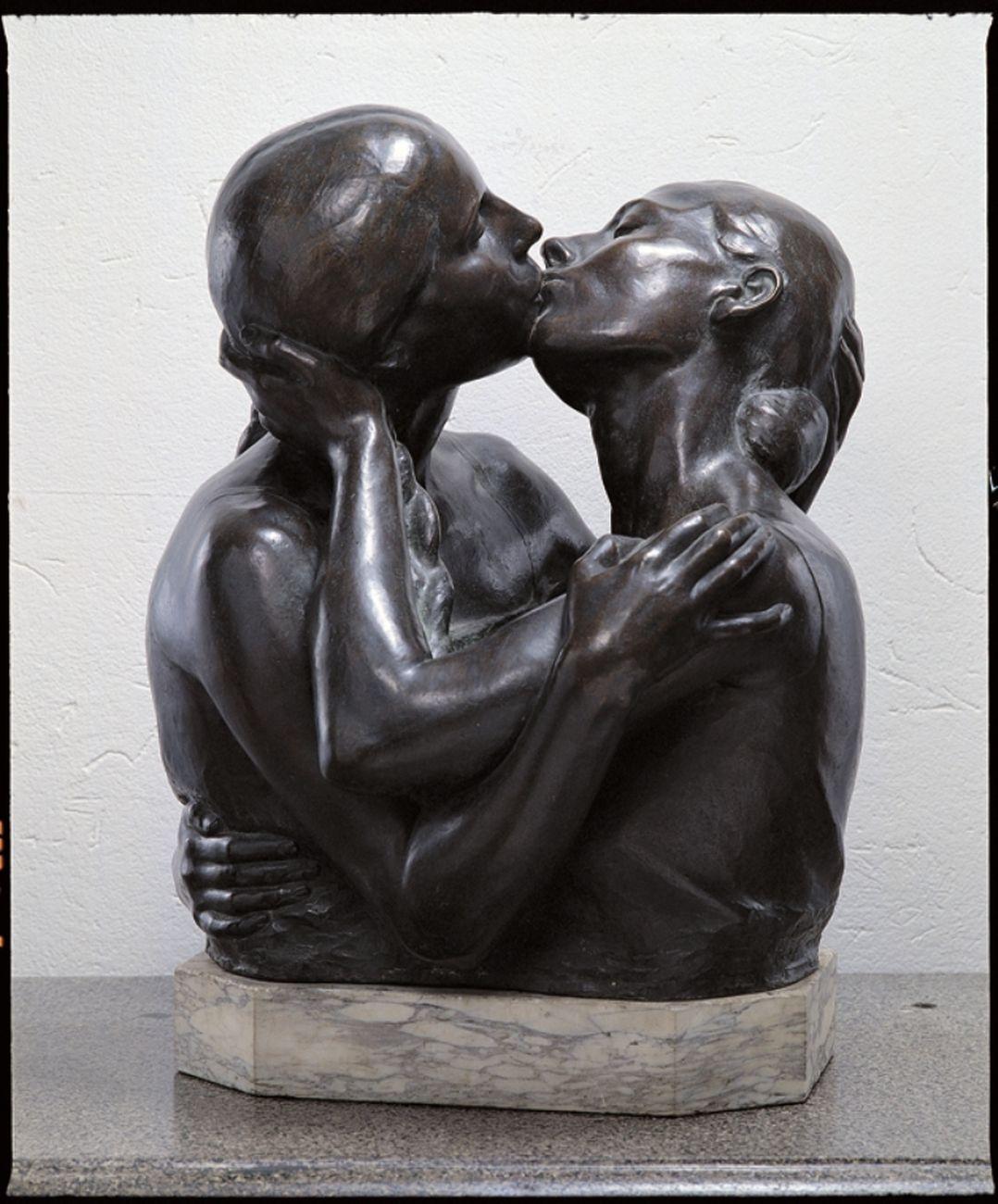 Alimondo Ciampi, Il bacio, 1929. Wolfsoniana Palazzo Ducale, Genova