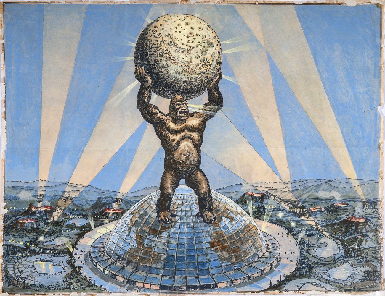 Carlo Rambaldi, Disegno di King Kong © Fondazione Culturale Carlo Rambaldi